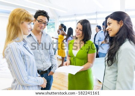 Business Training in International Office - stock photo