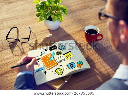 Business Training Strategy Designer Planning Working Concept - stock photo