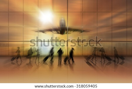 business travel, concept - stock photo