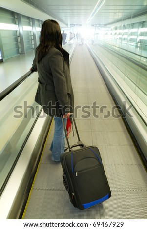 Business travel with luggage