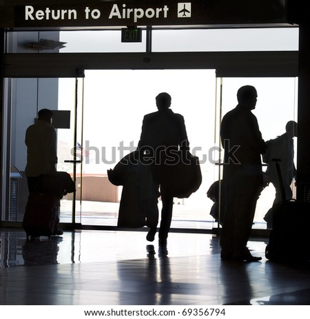 Business traveler - stock photo