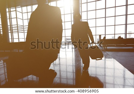 Business Travelers at Airport Concept - stock photo