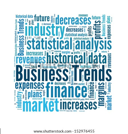 Business trend in word collage