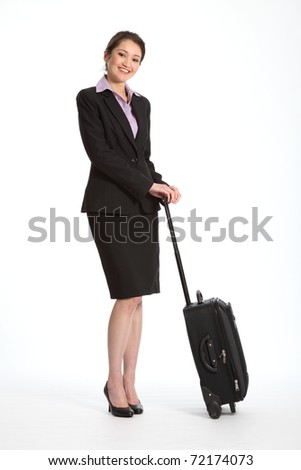 Business trip for career woman - stock photo