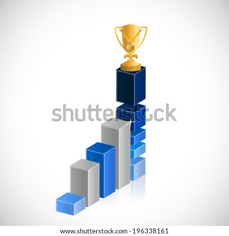 business trophy success illustration design over a white background - stock photo