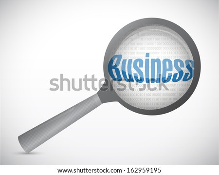 business under magnify search investigation illustration design over a white background - stock photo