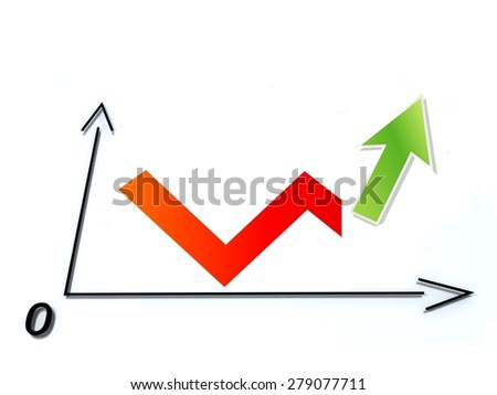 Business up background - stock photo