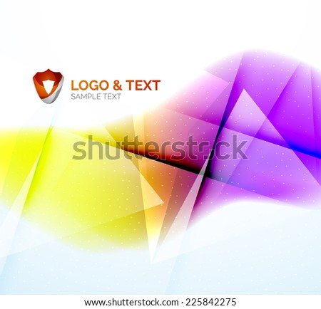 Business wave background, purple and orange colors. Blurred shiny abstract template