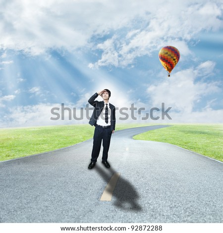 Business way - stock photo