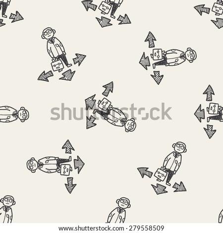 business way doodle - stock photo