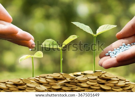 Business with csr practice / Green business - stock photo