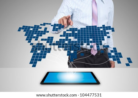 Business with Expansion on the tablet. - stock photo