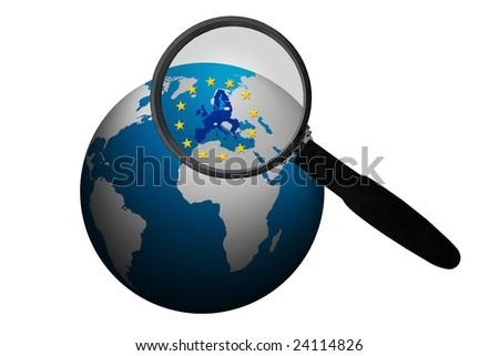 Business within  the European Union - stock photo