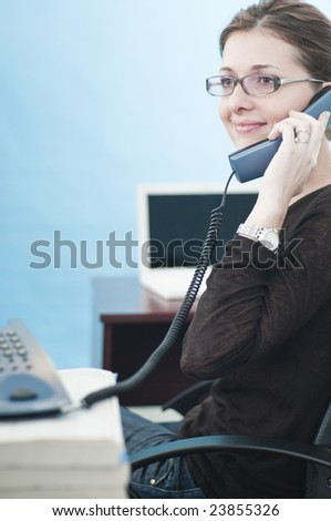 Business woman and phone call