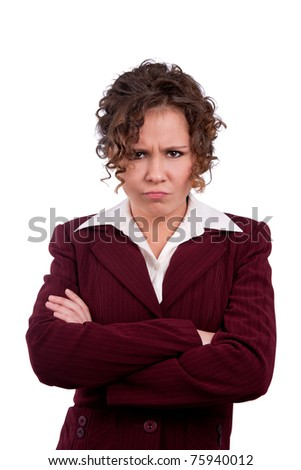 Business woman angry - stock photo