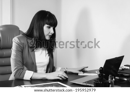 business woman at the table