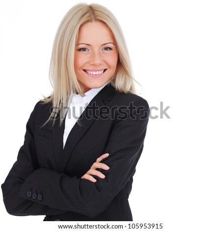 business woman close up - stock photo