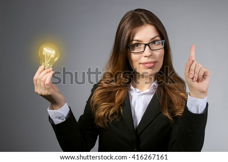 business woman has an idea for your business