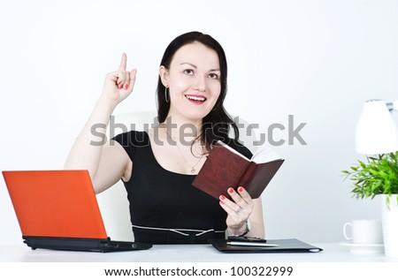 Business woman having an idea - stock photo