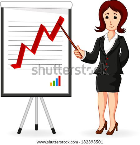 Business Woman holding a training  - stock photo