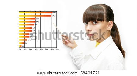 business woman holding reports - stock photo