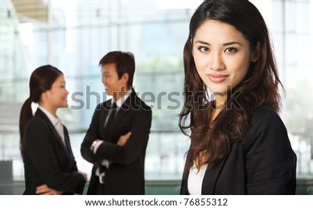 Business woman in a corporate environment
