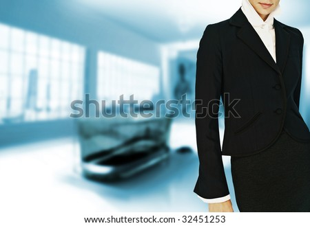 Business woman in office - stock photo