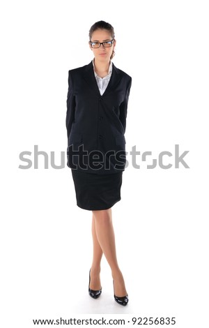 Business woman. Isolated on the white background - stock photo