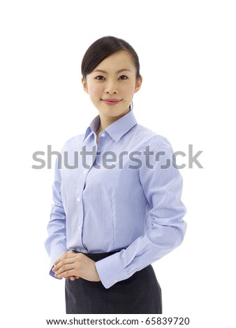 business woman - isolated over a white background - stock photo