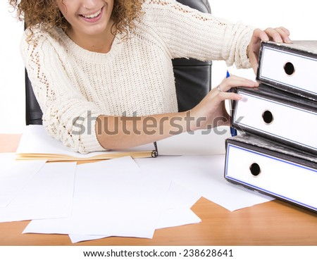 business woman manager study - stock photo