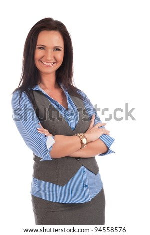 business woman on an isolated background
