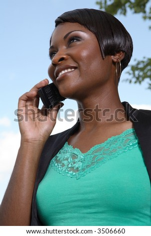 business woman on phone left