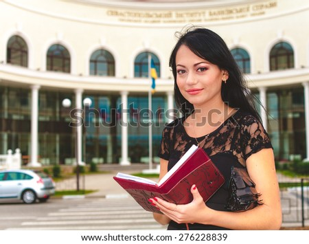 business woman outdoor - stock photo