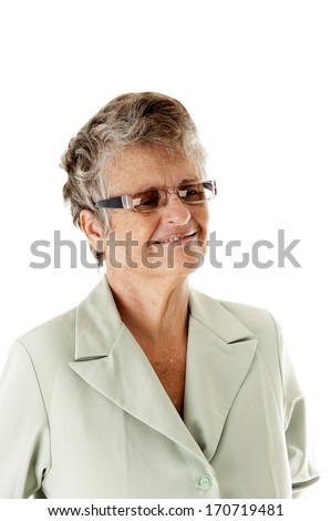 Business woman over white background . - stock photo