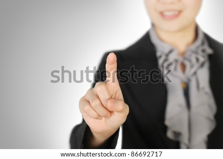 Business woman pointing someting