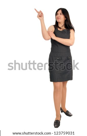 Business Woman pointing up / Business Woman - stock photo