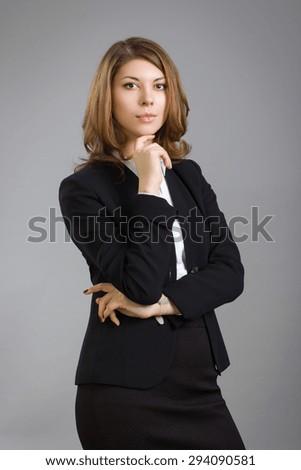Business woman portrait . - stock photo