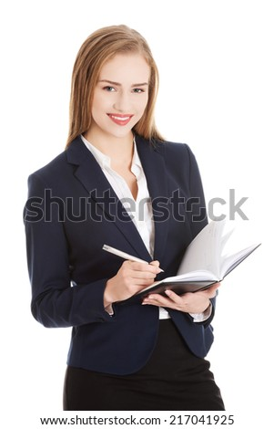Business woman portrait. Young businesswoman.