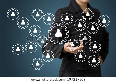 Business Woman Present Business Diagram People Concept - stock photo