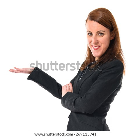 Business woman presenting something  - stock photo