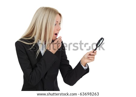 business woman search - stock photo