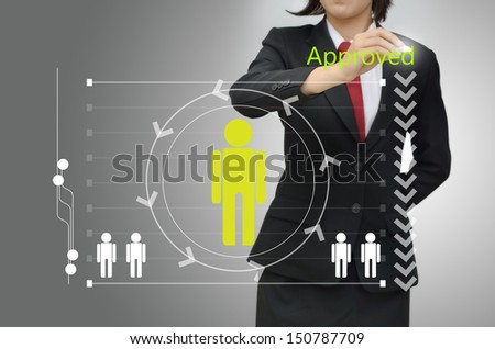Business woman selected person talent - stock photo