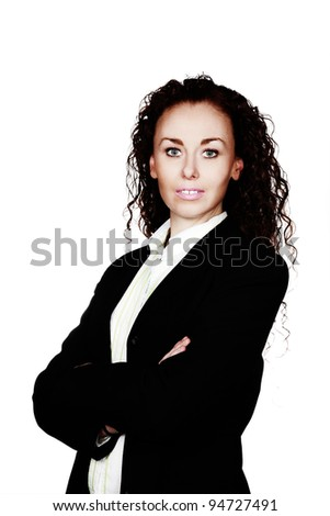 business woman shot in the studio