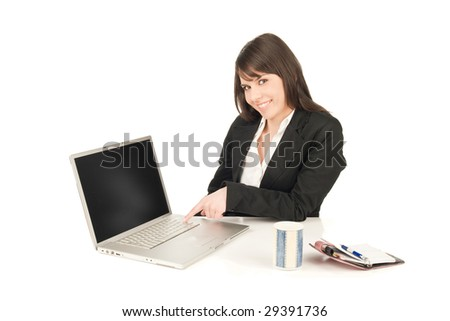 Business woman sitting at the desk