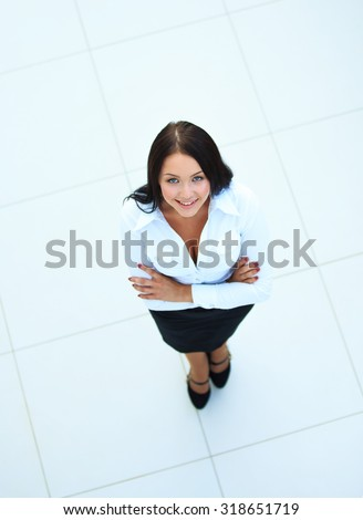 business woman. Top view - stock photo