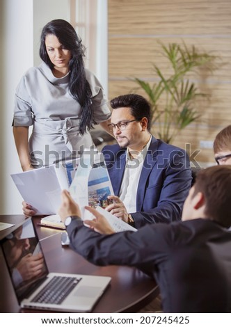 business woman with her colleagues  - stock photo