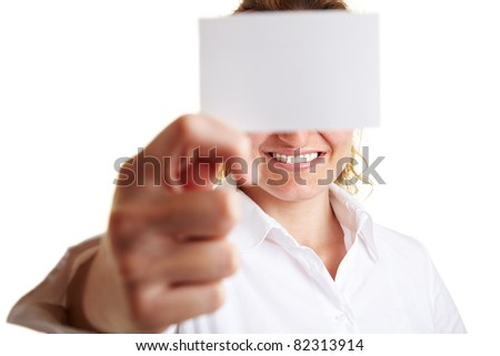 Business woman writing the word Kontakt on glass - stock photo