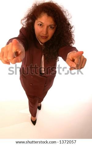 business woman you you you - stock photo