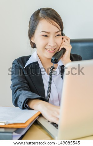 Business women calling