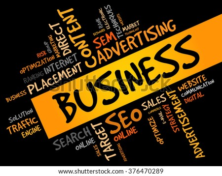 BUSINESS word cloud, business concept - stock photo